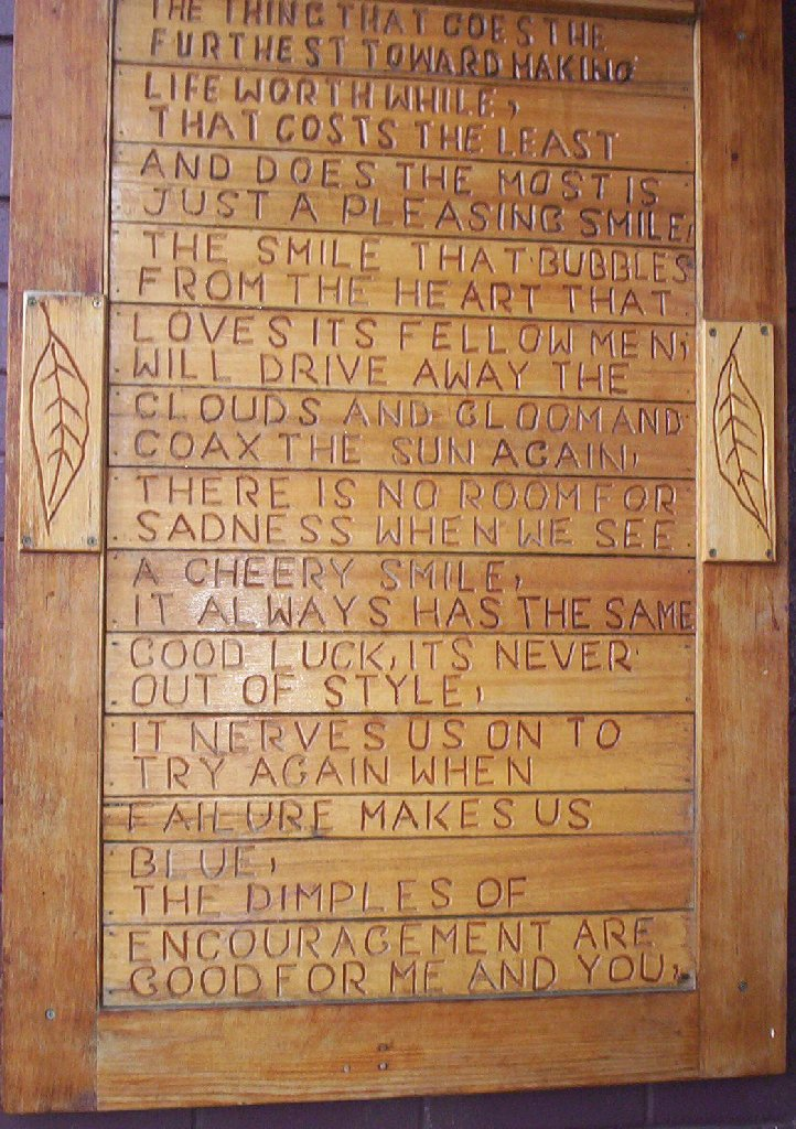 Poem On Wood Plaque