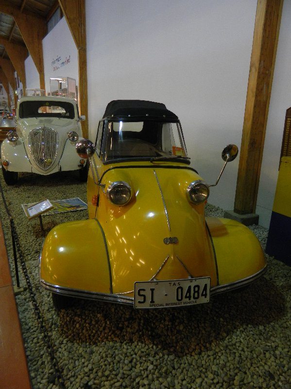 Messerschmitt car at the National Automobile Museum at Launceston.
