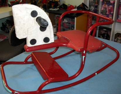 We had a rocking horse like this one.