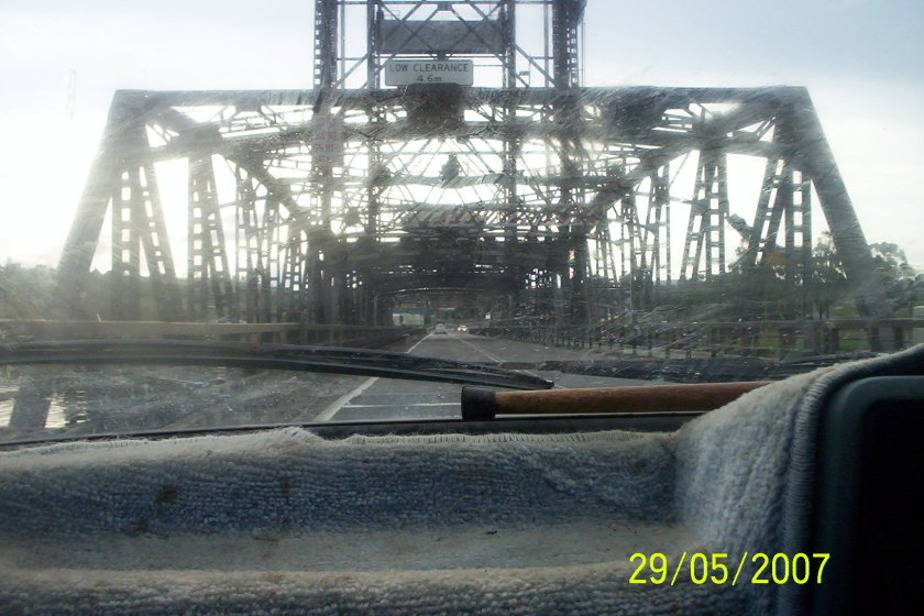 image car on bridge