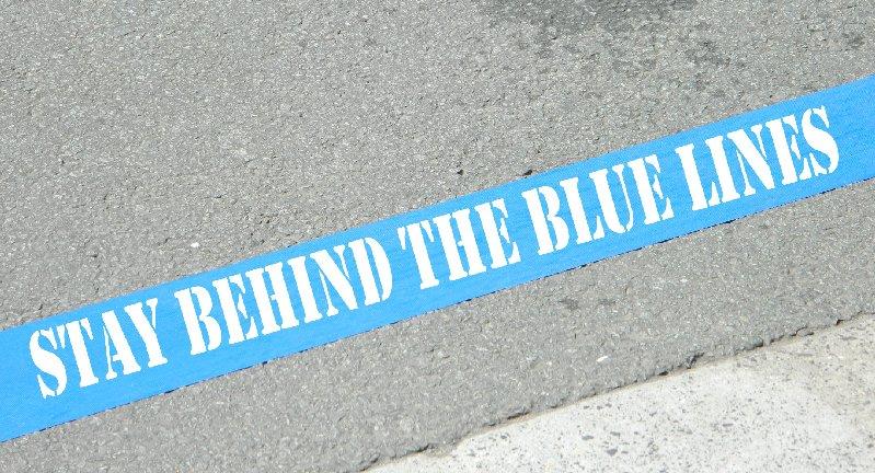 image blue line