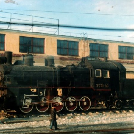 image Russian steam loco