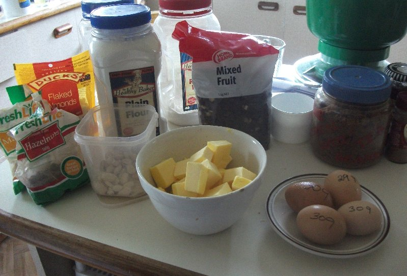 image ingredients for Christmas Cake