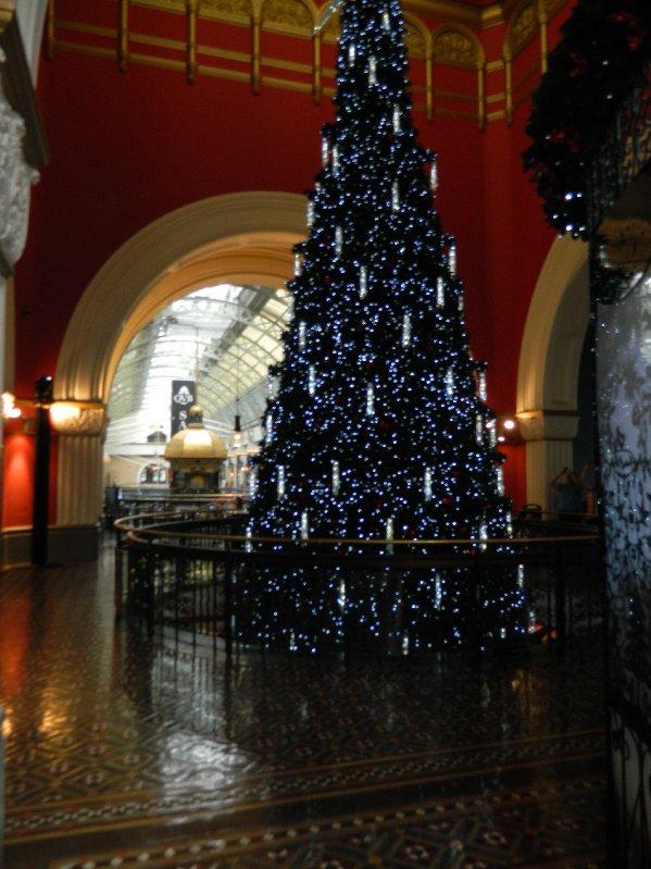 Christmas tree in the Queen Victoria Building, Sydney December 2012