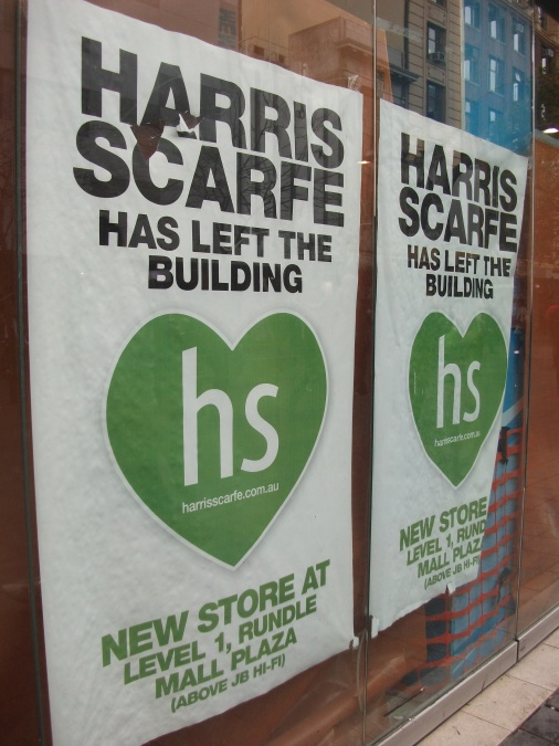 Harris Scarfe store closed 2011.