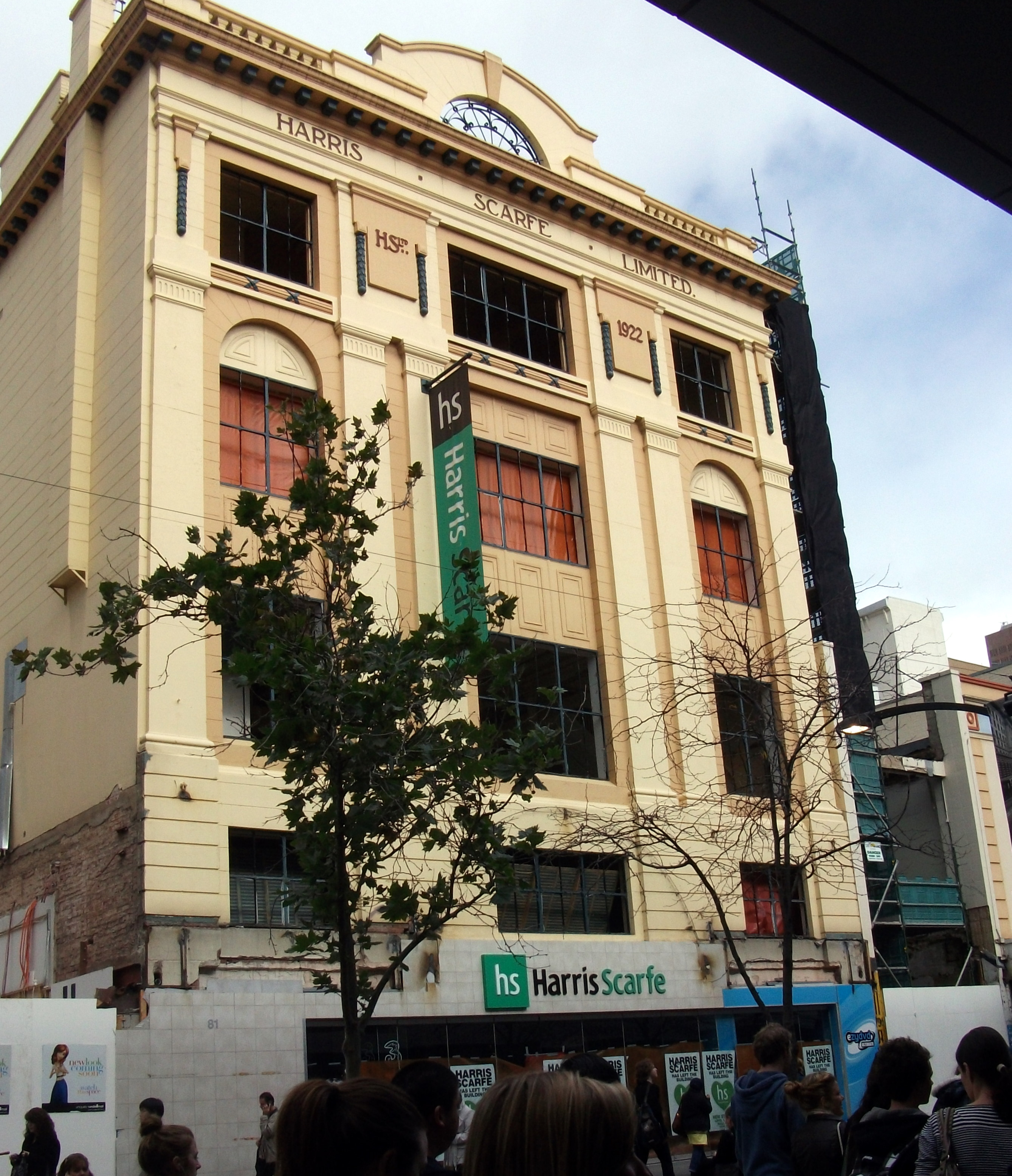 Harris Scarfe, Rundle Mall entrance May 2011. Demolition had already started.