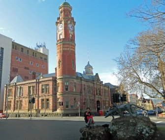 "The Launceston Post Office with it's infamous ""noisy"" clock. http://www.telegraph.co.uk/news/worldnews/australiaandthepacific/australia/8634936/102-year-old-clock-could-be-stopped-in-Tasmania-because-noise-is-driving-tourists-away.html"
