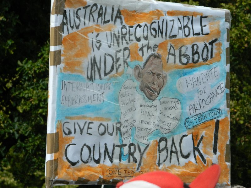 Image Give Us Our Country Back #marchinmarch Hobart