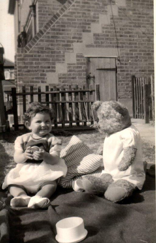 In the back garden around 1958.