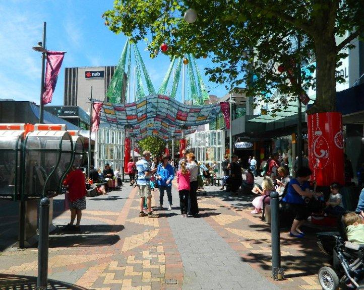 image Elizabeth St Mall, Hobart