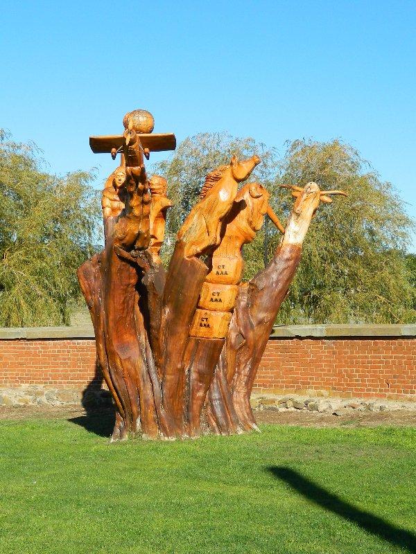 wooden sculpture at Campbelltown
