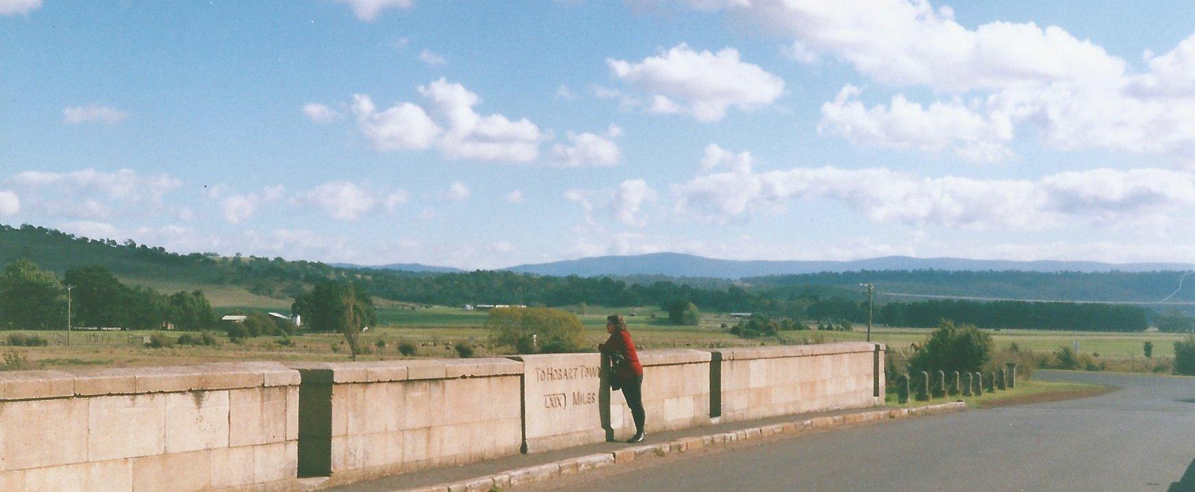image figure on bridge