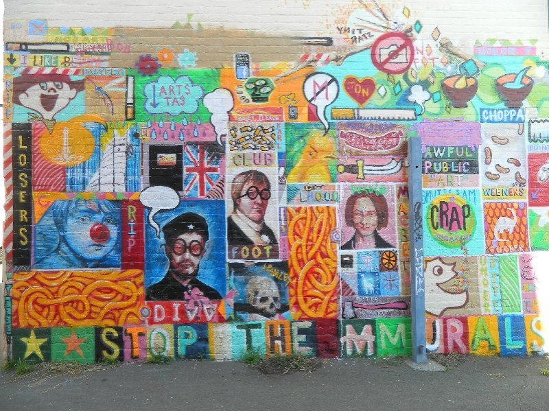 A mural in a lane off Elizabeth St.