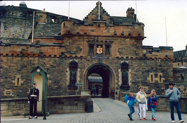 Edinburgh Castle March 1990