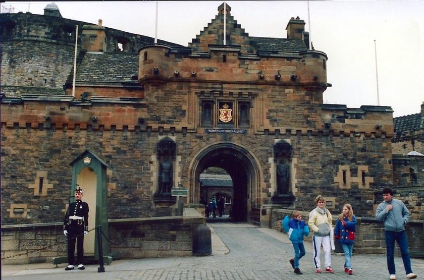 Edinburgh Castle March 1990