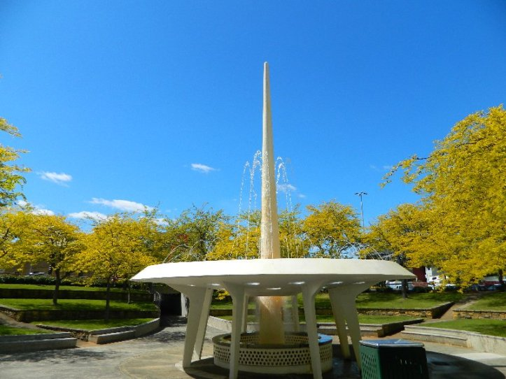Hobart's space aged fountain built in 1963.