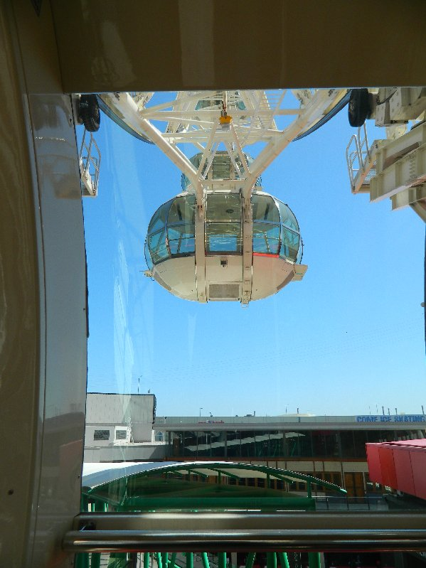 One of the observation pods on the Melbourne Star Observation Wheel