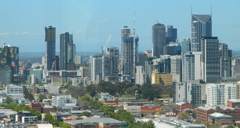 Melbourne as seen from the Star Observation Wheel in Docklands.