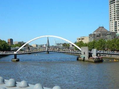 Bridges over the Yarra in the Southbank Precinct.