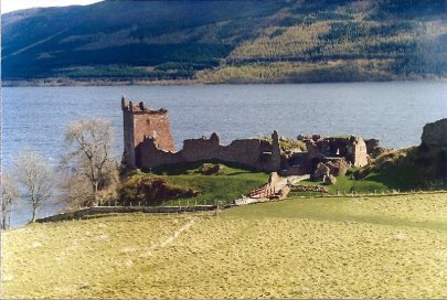 Ruins of Urquhart Castle at Loch Ness