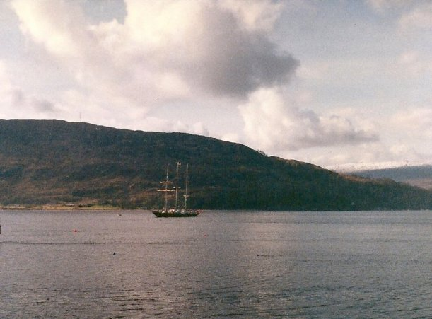 Sail training ship on Loch Linnhe