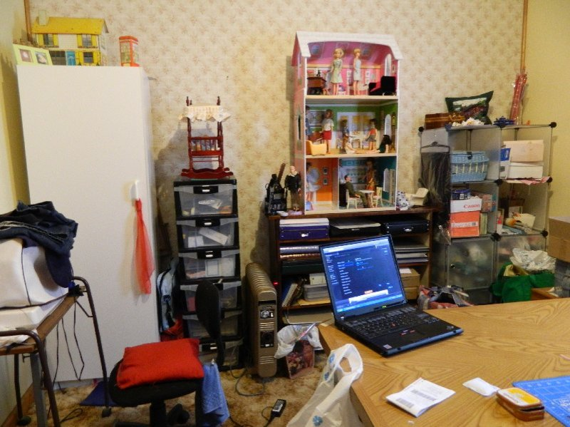 My doll and craft space.