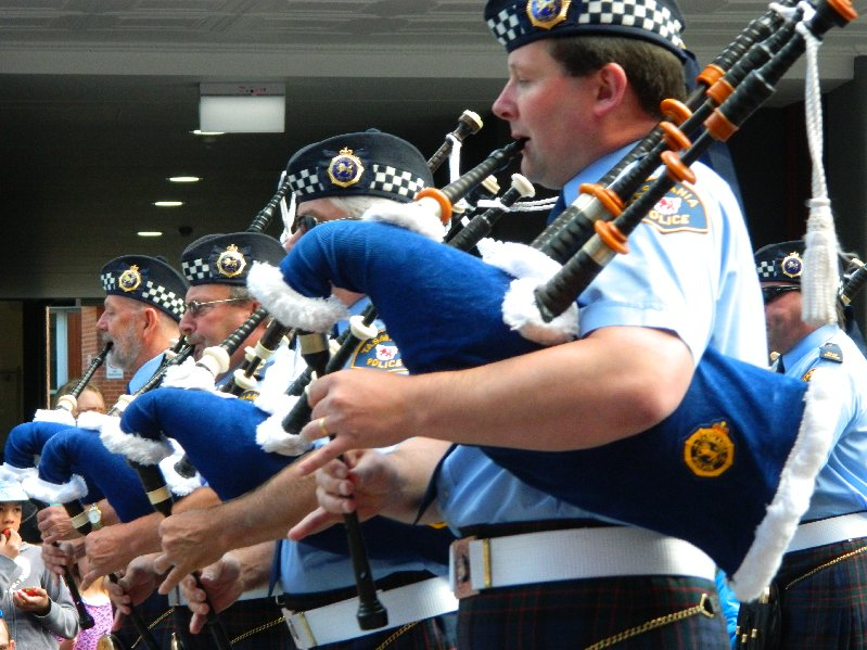 Police Pipe Band -not everyone likes bagpipes but I do.