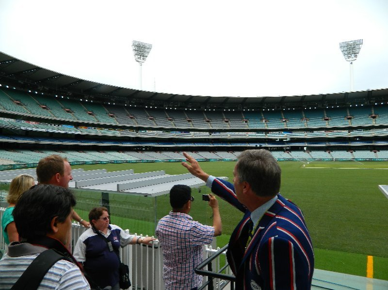 Our guide points out features of the ground.