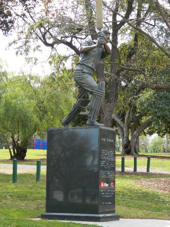 Neil Harvey Statue.