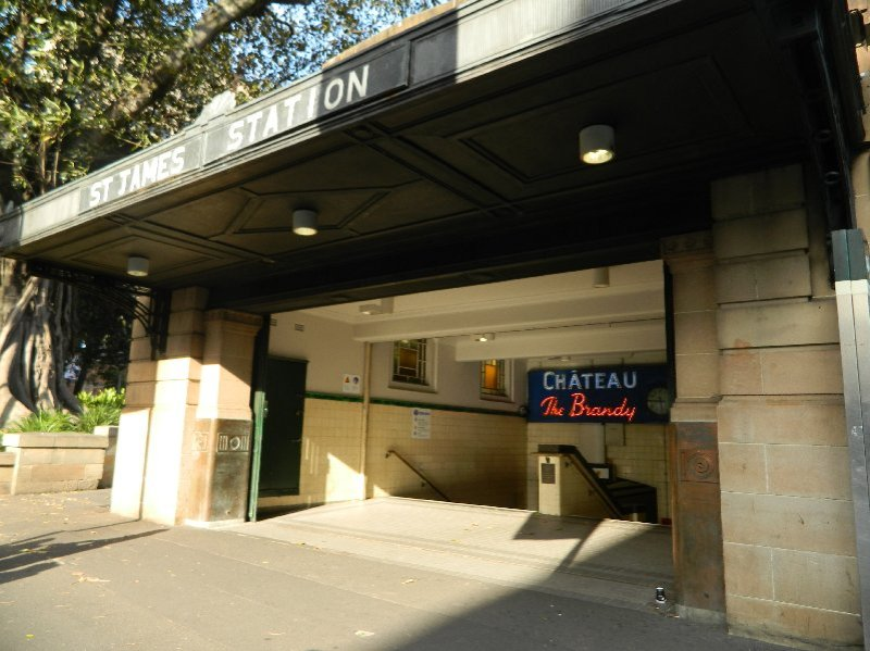 Entrance to St James Station, Sydney