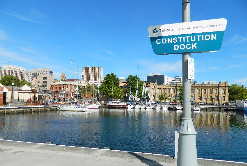 Constitution Dock Hobart is where the race ends.