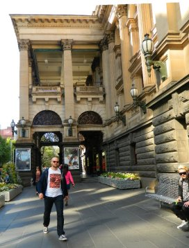 Outside the Town Hall, Swanston Street - Melbourne