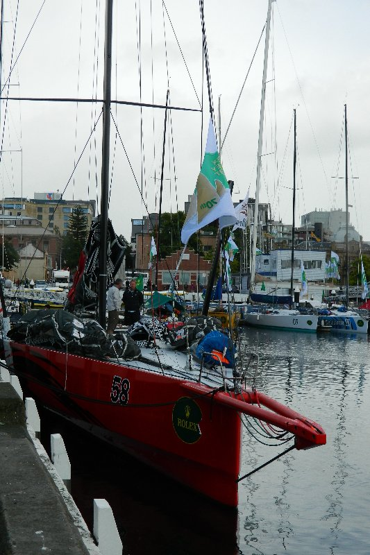 US yacht Commanche in Hobart after the 2014 race.