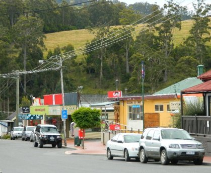 Church Street is the main street in Geeveston.