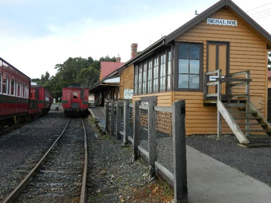 The station at Regatta Point, the Strahan terminus.
