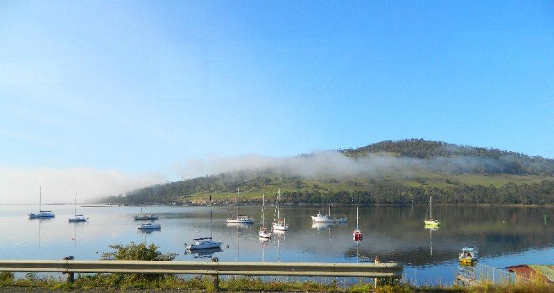 Port Huon, Tasmania-taken through the bus window.