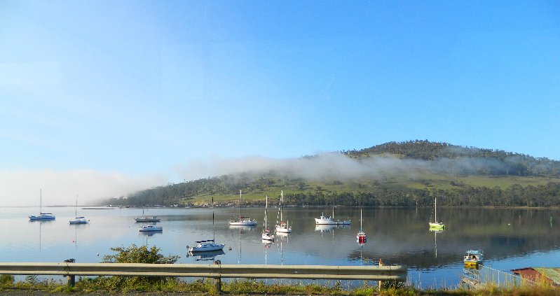 Port Huon, Tasmania-taken through the bus window.