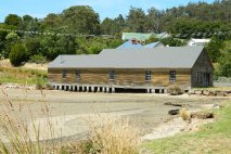 Wooden building at Policeman's Point, Huon Valley Tasmania