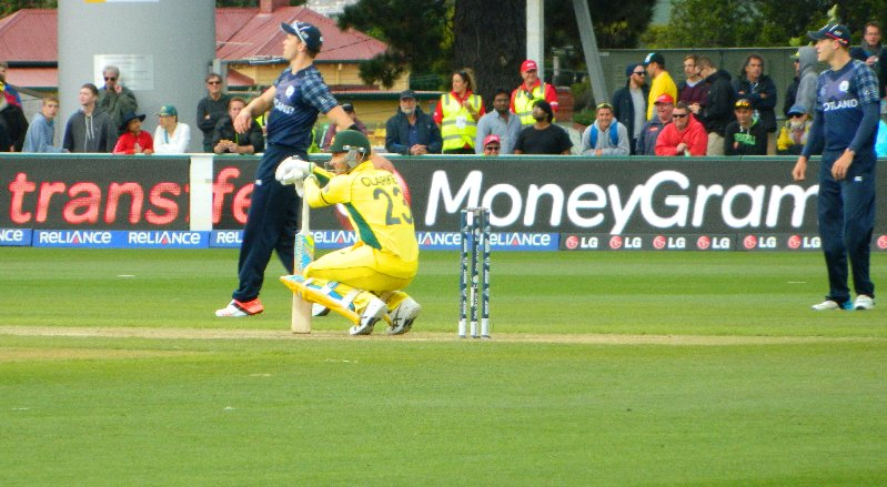 Michael Clarke during the Australia v Scotland pool game at Bellerive Oval, Hobart