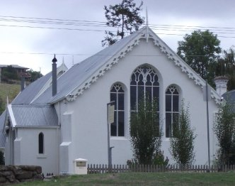 An old church in Franklin which is now privately owned.