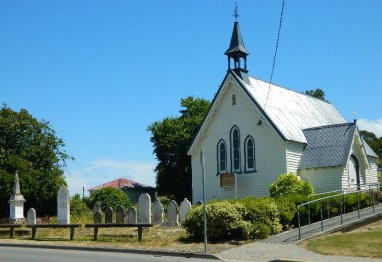 An old church in Dover, Tasmania
