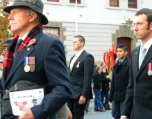 Veterans at the ANZAC parade 2015