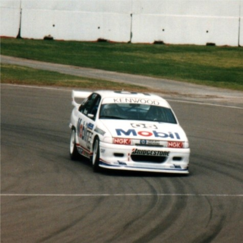 The late Peter Brock's Holden Commodore on the Adelaide circuit.