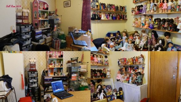 This is how the doll room looked last year.