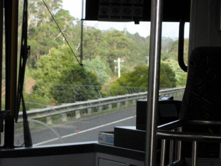 A rainy trip home on the bus.
