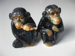 A pair of china monkeys