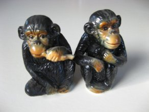 A pair of china monkeys