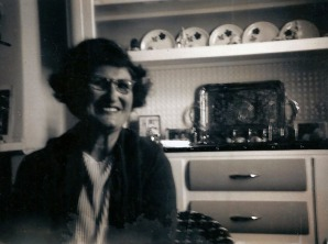 Mum at home some time in the 1970s.