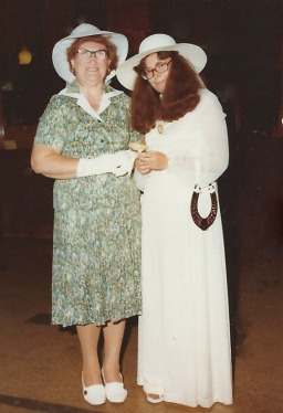 Mum and I on my wedding day.
