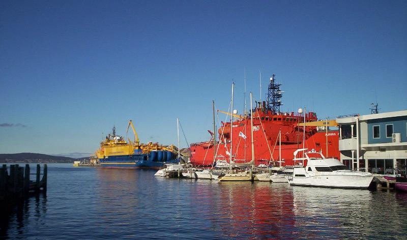 Antartic vessels , Princes Wharf Hobart 2007